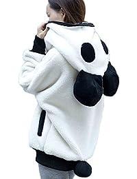 Abrigo de mujer, Ouneed Las mujeres lindas oso oreja Panda sudadera con capucha invierno abrigo chaqueta abrigos