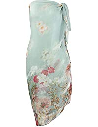 b909650f7849 Makroyl Womens Sexy Bohemian Floral Beach Cover up Sarong Wrap Swimsuit  Beachwear
