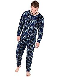 64ca4041b26c XSS Mens Cosy Fleece All in One Piece Pyjamas Jump Sleep Suit Onesie PJs  Nightwear