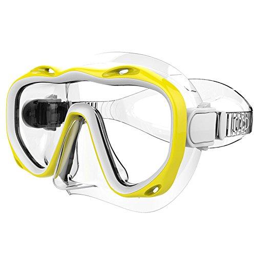 Festnight Tauchen Maske Schutzbrille Tauchmaske Schwimmen Taucherbrille Schnorcheln Glas Ausrüstung Gehärtetem Glas