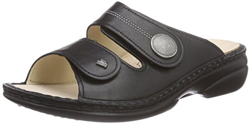 Damen schwarz Sansibar Schwarz Offene Sandalen Comfort Finn Bq7w41EaZ