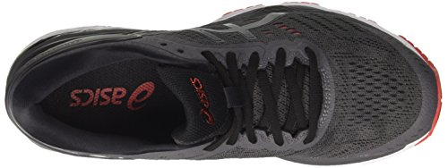 Asics Gel-Kayano 24, Chaussures de Running Homme Gris (Dark Grey/Black/Fiery Red 9590)