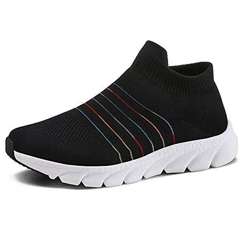 Donna Scarpe da Ginnastica Leggere Sneakers Scarpe Sportive da Corsa per Donna Nero 37 EU