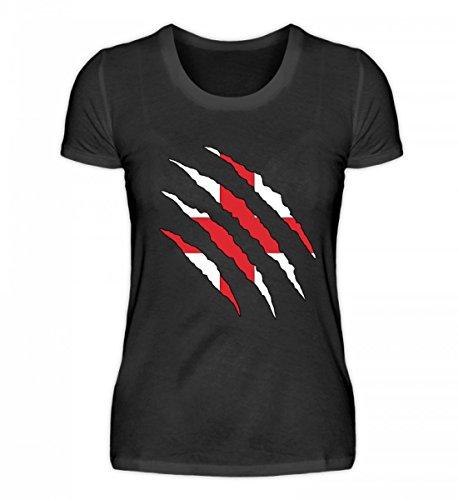 PlimPlom Hochwertiges Damenshirt - England WM Fan Tshirt Englische Nationalmannschaft Shirt Trikot