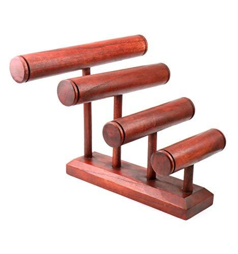 Grand Etagere Armbänder/Uhren 4Armbandhalter aus massivem Holz Farbe Rot -