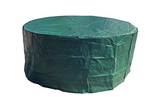 Laxllent Schutzhülle für Tisch Hülle Gartenmöbel Abdeckung,Wasserdicht Atmungsaktiv Abdeckhaube für Stühle,Sofa,φ190x70cm,Rund,PE,Grün -