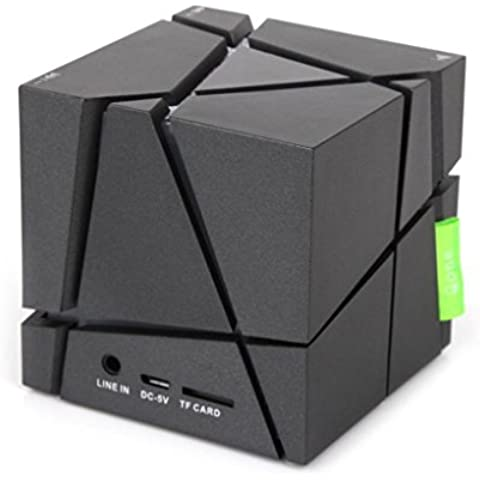 Transer® Nuevo Moda Cubo LED Mini Portable Stereo Wireless Bluetooth altavoz para Smartphone Tablet PC