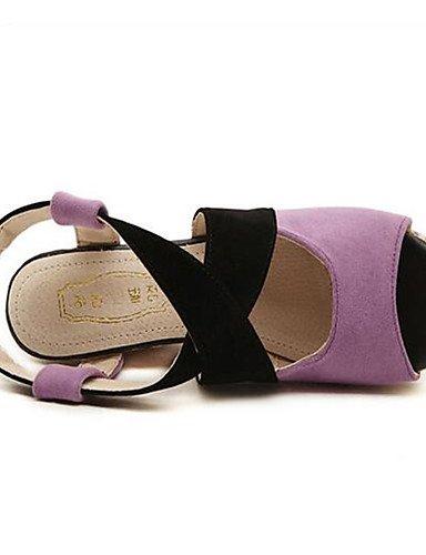 WSS 2016 Chaussures Femme-Décontracté-Violet / Rouge / Orange-Gros Talon-Talons-Chaussures à Talons-Polyuréthane purple-us6.5-7 / eu37 / uk4.5-5 / cn37