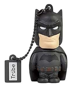 Tribe DC Comics Action Figure Batman Movie Chiavetta USB da 16 GB Pendrive Memoria USB Flash Drive 2.0 Memory Stick, Idee Regalo Originali, Figurine 3D, Archiviazione Dati USB Gadget in PVC con Portachiavi - Nero