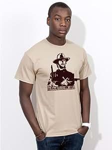 T-shirt pour une poignée de dollars clint eastwood kult western film shirt e136 tan Small Marron - Marron