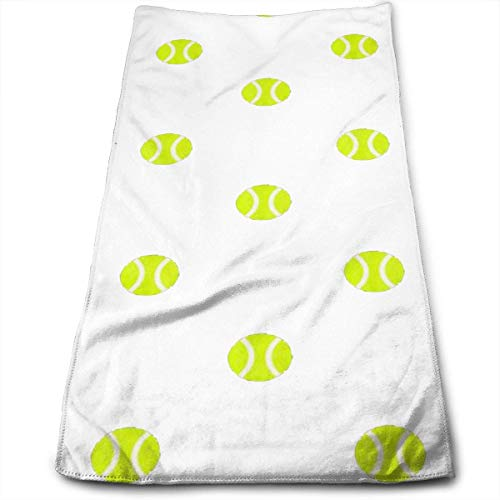 Wolanim Tennis Ball Dot Hotel & Spa & Home Hand Towel Multipurpose 12 x 27.5 Inch Cotton Highly Absorbent -