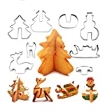 amiubo 18pcs Küche Edelstahl Mini Geometric Shaped Cookie Keks Ausstecher Set Brotbackformen