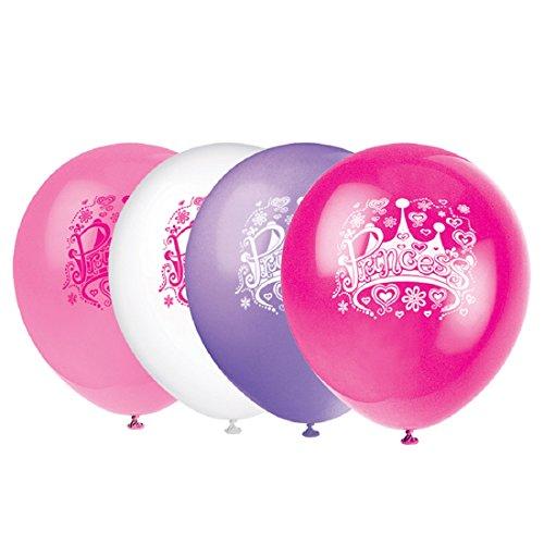 Unique Party Supplies 30,5cm Latex Prinzessin Diva Geburtstag Luftballons, 8Stück