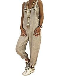 7e2cd10cc155 Amazon.it  Pantaloni Con Bretelle - M   Donna  Abbigliamento