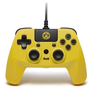 BVB CONTROLLER für PS4 – Offiziell lizenzierter BVB Controller zur Nutzung mit der Playstation 4 – Kabelgebunden – 3 Meter