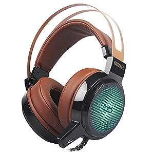 KARTELEI 3,5 mm Gaming Kopfhörer Kopfhörer Stirnband mit Mic Stereo Bass LED Licht Headset für PS4 PC Laptop