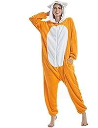 UMIPUBO Pijamas Unisexo Adulto Cosplay Traje Disfraz Adulto Animal Pyjamas Ropa de Dormir Halloween y Navidad Franela