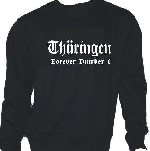 Thüringen - Forever Number 1; Städte Sweatshirt schwarz