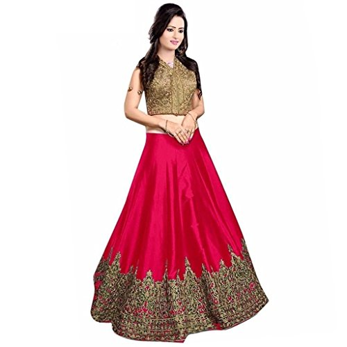 Vastra Fab Deal Women's Embroidary Lehenga Choli (Color: Pink Free Size)