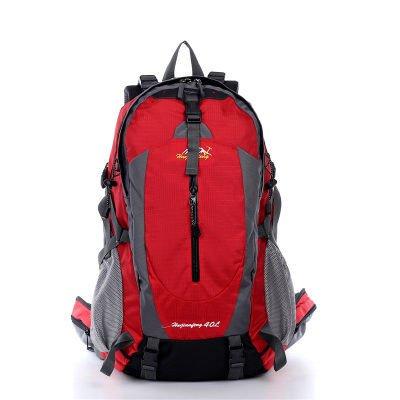 ShangYi All'aperto alpinismo borsa doppio donne spalla borse uomo sport viaggio zaino , dark blue Red