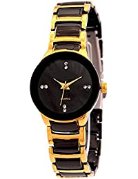 Style Keepers New Arrival Festive Season Special Analog Black-Gold Dial Black-Gold Stainless Steel Chain Strap...