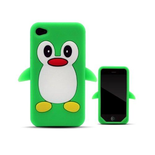 Tinkerbell Trinkets® iPhone 4 / 4S Grün Pinguin niedlichen Tier Silikonhülle Shell Beschützer Handy Smartphone Zubehör
