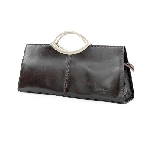 modamoda de - ital. Ledertasche Handtasche Damentasche Business Elegant Tragetasche X03 2012 Dunkelbraun