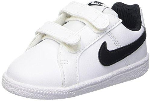 the best attitude bc453 3d812 Nike Court Royale TDV, Chaussures Premiers Pas pour bébé garçon,  Multicolore (Bianco