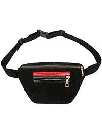 Yourig Corduroy Waist Bag Chest Bag Handbag Women Fanny Pack Purse Phone Pouch Bag