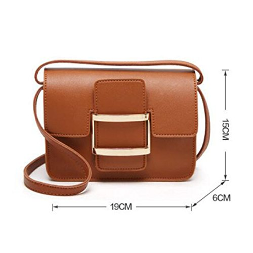 Borsa A Tracolla In Pelle Diagonale Piccolo Borsa Quadrata Mini Donna,Brown Green