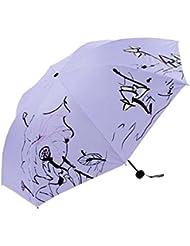 Pourpre élégante femme Parapluie Pliable extérieure Protection solaire