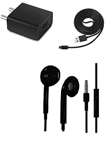 HTC One SV CDMA Compatible iPhone EarPods Earphone 3.5mm Earpods handsfree Earphone Stereo Headset With Mic and Sound Control WITH Mobile Charger Original Adapter Like Mobile Charger | Power Adapter | Wall Charger | Fast Charger | Android Smartphone Charger | Battery Charger | Hi Speed Travel Charger With 1 Meter Micro USB Cable Charging Cable By HIMTRONICS