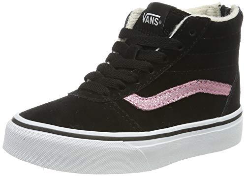 Vans Mädchen Ward Hi Zip Weatherized Suede Hohe Sneaker, Schwarz Black/True White V2o, 37.5 EU -