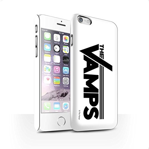 Officiel The Vamps Coque / Clipser Brillant Etui pour Apple iPhone 6 / Pack 6pcs Design / The Vamps Graffiti Logo Groupe Collection Blanc/Noir