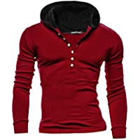 Sourcingmap Men Long Sleeve Button Closure Upper Slim Fit Casual Sweatshirt