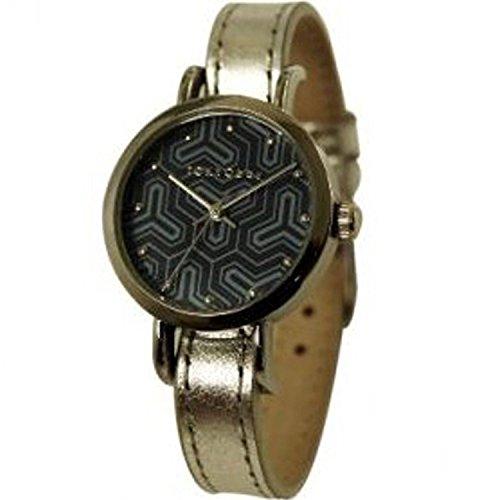 acier-or-cuir-tokyobay-t299-si-femmes-strap-noir-cadran