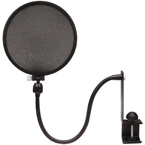 Nady mpf-2 Mikrofon Pop Filter Mit Doppelter Schicht Mesh Wind Display und 360 Flexibler Schwanenhals Pop-Filter mit Stabilisierungs-Arm 15.50in. x 8.50in. x 1.90in.