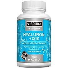 Ácido hialurónico altamente concentrado + coenzimas Q10, cápsulas veganas para una cura de 2 meses
