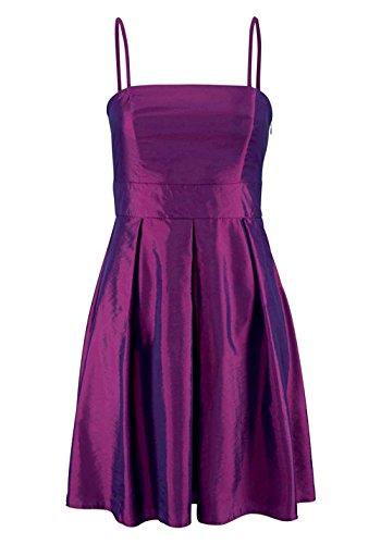 Laura Scott Evening Damen-Kleid Taft-Cocktailkleid Violett Größe 42
