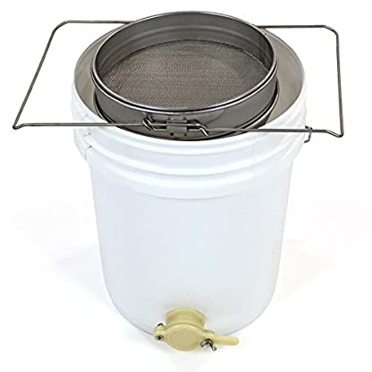 Easibee Honey Settling Tank 20 Litre Double Stainless Steel Strainer Valve Beekeepers 4
