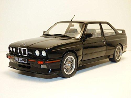 Solido–BMW–M3E30–1990Coche de ferrocarril de Collection, 1801501, Negro, Talla única
