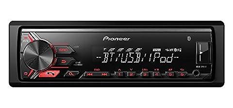 Autoradio Pioneer Bluetooth sans 1DIN lecteur USB AUX Rouge pour Opel Astra H 4/04> 11/10Charcoal