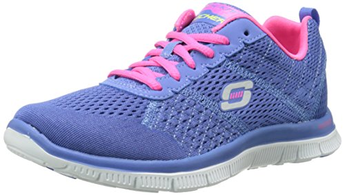 Skechers Damen Flex Appeal Obvious Choice Sneakers Blau (PWPK) 39 EU - Schuhe Von Frauen Running Sketcher