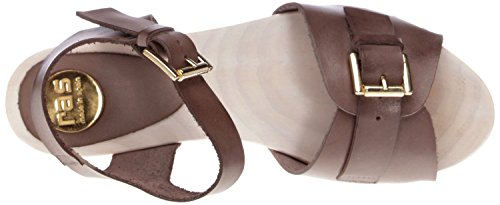 RAS 743HE2M keil plateausandaletten cuir taupe Marron - Taupe