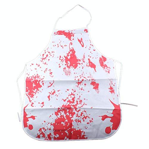 Adult Kostüm Beängstigend - UPKOCH Halloween Bloody Schürze gedruckt beängstigend Blut bespritzt Halloween Kostüm Requisiten für Halloween BBQ Kochschürze Küchenbevorzugungen