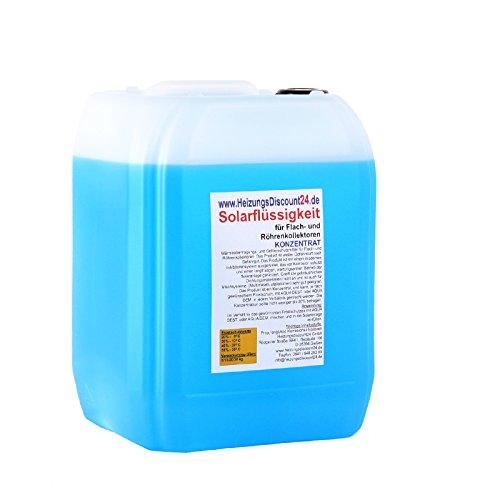 10 Liter Solarflüssigkeit Konzentrat bis -58°C Frostschutz, Solarfluid, Solarliquid, Wärmeträgermedium Test