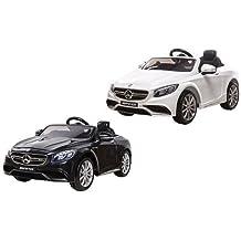 Codex Europe - Mercedes Benz S63 AMG - Coche Eléctrico Bateria / Automóviles Infantiles para Niños 12V -, con mando a distancia 2.4Ghz, ruedas EVA suaves - Negro - 124 x 60 x 34 cm