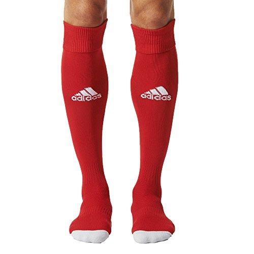 Adidas milano calzettoni da uomo, rosso/bianco (power red/white (aj5906)), taglia 43-45