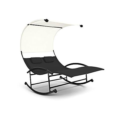 Chaise Longue A Bascule Jardin - ikayaa Double Chaise Longue à BasculeTransats Piscine