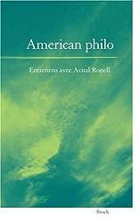 American philo - Entretiens avec Avital Ronell